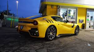 Ferrari F12 Yellow - stunning yellow ferrari f12tdf photographed in the metal