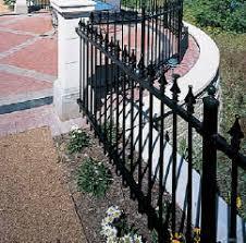 ornamental iron fences monumental iron works fences