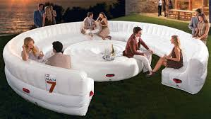Large Sofa Bed White Large Circular Pvc Modern Inflatable Furniture Inflatable