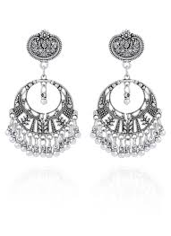dangler earrings buy silver dangler earrings danglers online shopping tjjai20005