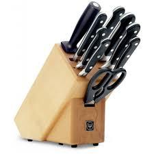 wusthof 10 piece classic knife block set 9842 williams food