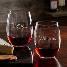 how to personalize a wine glass personalized drinkware barware accessories personalization mall