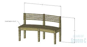 How To Make A Curved Bench Seat A Challenging Bench To Build U2013 Designs By Studio C