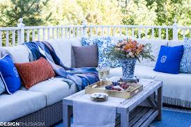 outdoor fall decorating ideas serving hors d u0027oeuvres on the patio