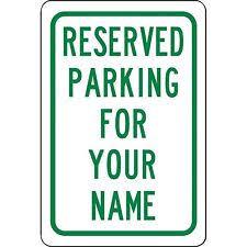 reserved parking sign ebay