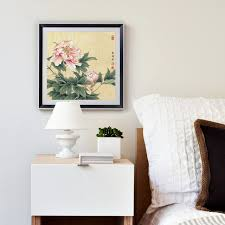 Chinese Home Decor Pink Peony Chinese Paintings Flowers Picture Canvas Vintage Home