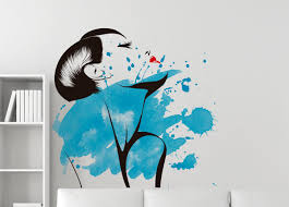watercolor woman silhouette wall decal art moonwallstickers com watercolor woman silhouette wall decal art