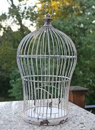 mushroom decorative birdcage wedding table centerpiece shabby