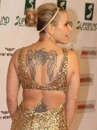 angel wings tattoo on womans back tattoos book