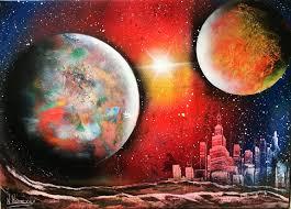Spray Paint Universe Spray Paint Space Art City Pilotproject Org