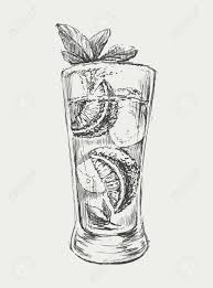 cocktail vector sketch mojito cocktail vector hand drawn illustration royalty free