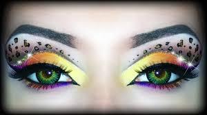 rainbow leopard print makeup tutorial halloween look ft