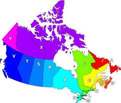 canada post fsa map list of postal codes in canada
