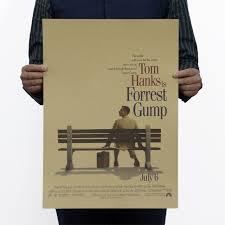 film forrest gump adalah tom hanks adalah forrest gump film vintage tua kertas poster retro
