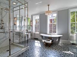 Black Sparkle Floor Tiles For Bathrooms 10 Gorgeous Ways To Do Patterned Tile In The Bathroom Porch Advice