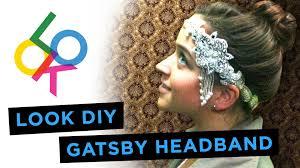 how to make a 1920s hairpiece gatsby headband look diy youtube