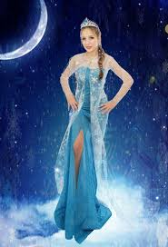 womens frozen princess elsa costume cosplay party gown fancy