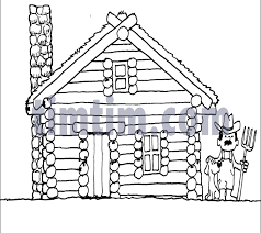 log cabin drawings free drawing of log cabin bw from the category history timtim com