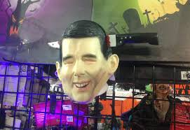 halloween mask store photo halloween store plunges knife through scott walker u0027s head