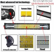 Off Road Light Bars Led by 270w Cree Led 3 Row Work Light Off Road Light Bar Spot Flood