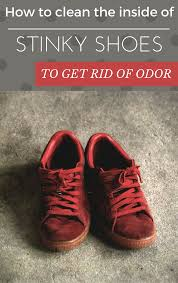 how to clean the inside of stinky shoes to get rid of odor
