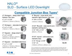 j box led lights eaton s cooper lighting business halo surface led downlight series o