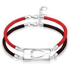 bracelet silver price images New fashion sweet match heart 925 sterling silver lover bracelets jpg