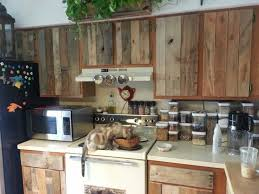 diy pallet kitchen cabinets diy cabinet refacing with pallet board things to love in life