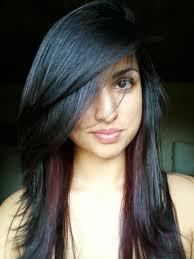 hair color highlights for black hair women medium haircut
