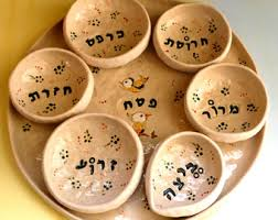 passover plate seder plate etsy