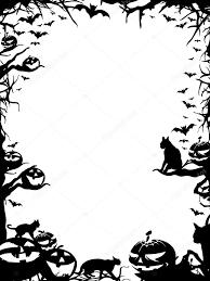 halloween frame border isolated on white u2014 stock photo
