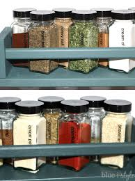 Narrow Spice Cabinet Organizing With Style Matching Spice Jars U0026 Ombre Spice Racks In