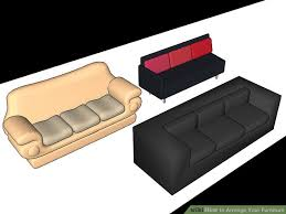 Small Desk Next To Sofa How To Arrange Your Furniture With Pictures Wikihow