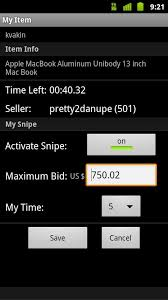 my bid myibidder bid sniper for ebay android apps on play