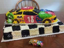 m u0026m race car cake