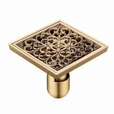 artistic antique brass bathroom bath wetroom square shower floor