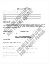 Notice Of Termination Of Lease By Tenant by Use A Renovation Notice To Inform Tenant Of Upcoming Renovations