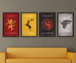 game of thrones home decor 24 game of thrones prints to decorate your wall gaming walls