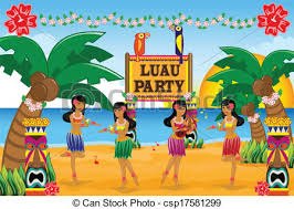 hawaiian luau party a vector illustration of hawaiian luau party eps vectors search