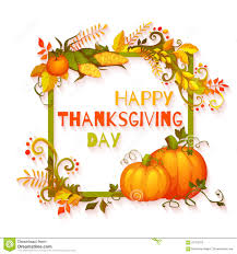 happy thanksgiving day banner with flowers and stock vector