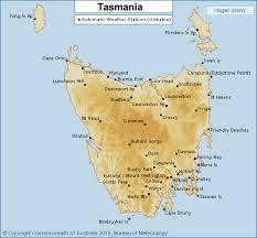map of tasmania australia weather graphs for tasmania