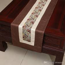 table runner for coffee table patchwork 120 inch long table runner classic rustic high end silk