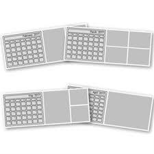 2017 desktop calendar template 4x10 digital art