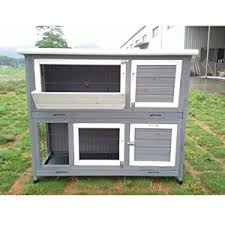 Double Decker Rabbit Hutch Maribelle 4ft Double Decker Rabbit Guinea Pig Hutch House Pen Cage