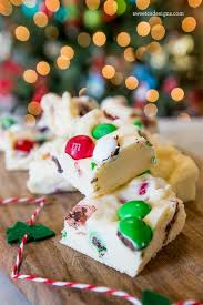 christmas candy cookie dough fudge
