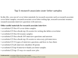 cover letter for research associate 10335