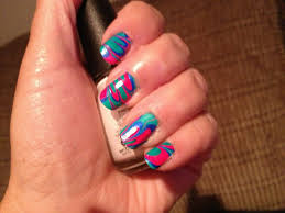 nail art water marbling with my mom peace love and polish u003c3