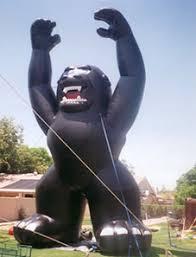 gorilla balloon gorilla balloons kong inflatables balloons advertising balloons