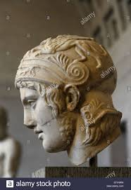 God Statue Ares The God Of War Roman Equivalent Mars Head Of A Statue Of
