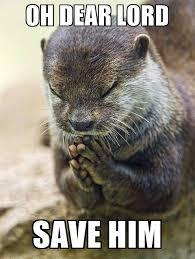 Oh Dear Lord Meme - oh dear lord save him praying otter tho meme generator